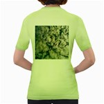 Pelicans In Flight Women s Green T-Shirt Back