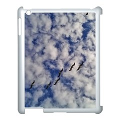 Pelicans In Flight Apple Ipad 3/4 Case (white) by StarvingArtisan