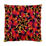 Red Floral Collage Print Design 2 Standard Cushion Case (One Side) Front