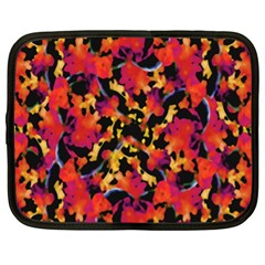 Red Floral Collage Print Design 2 Netbook Case (xl)