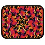 Red Floral Collage Print Design 2 Netbook Case (XL) Front