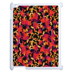 Red Floral Collage Print Design 2 Apple Ipad 2 Case (white)