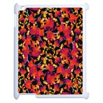 Red Floral Collage Print Design 2 Apple iPad 2 Case (White) Front