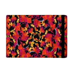 Red Floral Collage Print Design 2 Apple Ipad Mini Flip Case by dflcprintsclothing