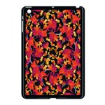 Red Floral Collage Print Design 2 Apple iPad Mini Case (Black) Front