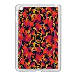 Red Floral Collage Print Design 2 Apple iPad Mini Case (White) Front
