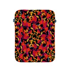 Red Floral Collage Print Design 2 Apple Ipad 2/3/4 Protective Soft Cases by dflcprintsclothing