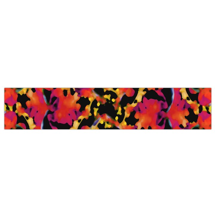 Red Floral Collage Print Design 2 Small Flano Scarf