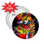 Dragon Lights Centerpiece 2.25  Buttons (10 pack)  Front