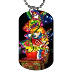 Dragon Lights Centerpiece Dog Tag (two Sides) by Riverwoman