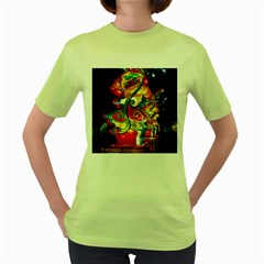 Dragon Lights Centerpiece Women s Green T Shirt