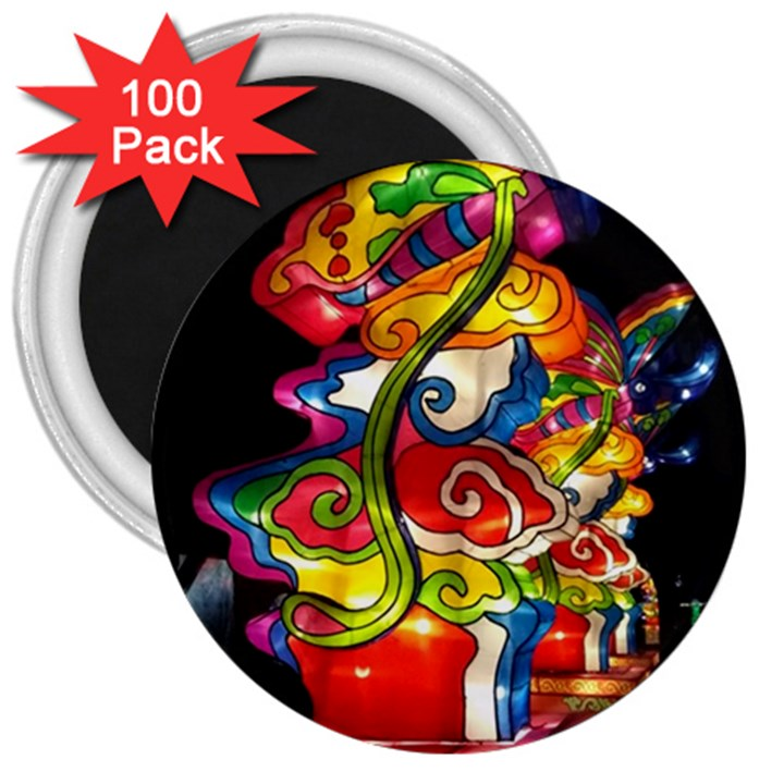Dragon Lights Centerpiece 3  Magnets (100 pack)