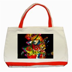 Dragon Lights Centerpiece Classic Tote Bag (red)
