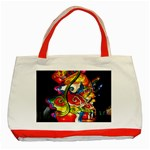 Dragon Lights Centerpiece Classic Tote Bag (Red) Front