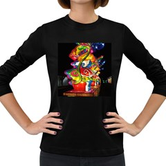 Dragon Lights Centerpiece Women s Long Sleeve Dark T Shirt