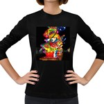 Dragon Lights Centerpiece Women s Long Sleeve Dark T-Shirt Front
