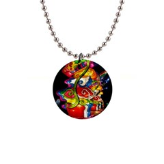 Dragon Lights Centerpiece 1  Button Necklace