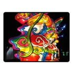 Dragon Lights Centerpiece Fleece Blanket (Small) 50 x40  Blanket Front