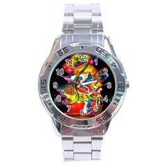 Dragon Lights Centerpiece Stainless Steel Analogue Watch