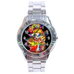 Dragon Lights Centerpiece Stainless Steel Analogue Watch Front