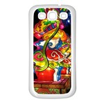 Dragon Lights Centerpiece Samsung Galaxy S3 Back Case (White) Front