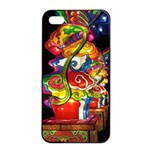 Dragon Lights Centerpiece Apple iPhone 4/4s Seamless Case (Black) Front