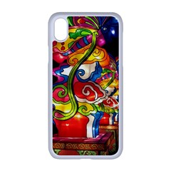 Dragon Lights Centerpiece Apple Iphone Xr Seamless Case (white) by Riverwoman