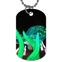 Dragon Lights Turtle Dog Tag (two Sides) by Riverwoman