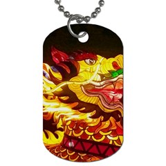 Dragon Lights Ki Rin Dog Tag (two Sides) by Riverwoman