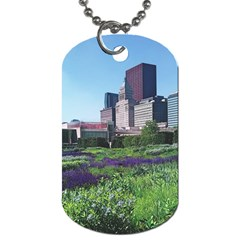 Lurie Garden Salvia River Dog Tag (two Sides) by Riverwoman