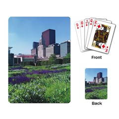 Lurie Garden Salvia River Playing Cards Single Design by Riverwoman