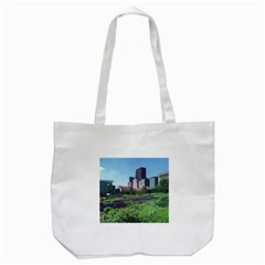 Lurie Garden Salvia River Tote Bag (white) by Riverwoman