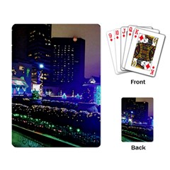 Columbus Commons Lights Playing Cards Single Design by Riverwoman