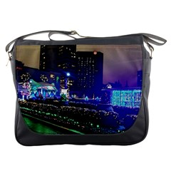 Columbus Commons Lights Messenger Bag by Riverwoman