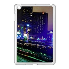 Columbus Commons Lights Apple Ipad Mini Case (white) by Riverwoman