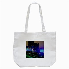 Columbus Commons Lights Tote Bag (white) by Riverwoman