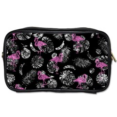 Flamingo Pattern Toiletries Bag (two Sides) by Valentinaart
