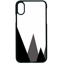 Geometric Landscape Apple Iphone Xs Seamless Case (black) by Valentinaart