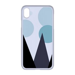 Geometric Landscape Apple Iphone Xr Seamless Case (white) by Valentinaart