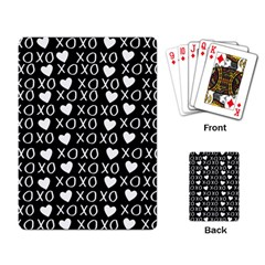 Xo Valentines Day Pattern Playing Cards Single Design by Valentinaart