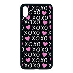 Xo Valentines Day Pattern Apple Iphone Xs Max Seamless Case (black)