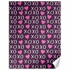 Xo Valentines Day Pattern Canvas 18  X 24