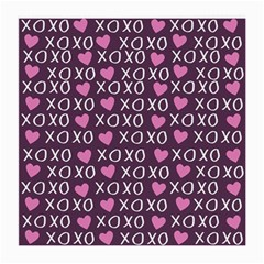 Xo Valentines Day Pattern Medium Glasses Cloth (2-side) by Valentinaart