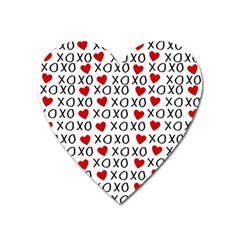 Xo Valentines Day Pattern Heart Magnet by Valentinaart