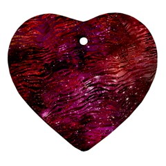 Funny Galaxy Tiger Pattern Ornament (heart) by tarastyle