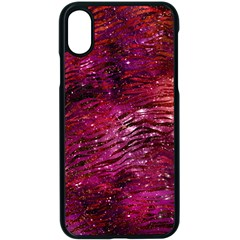 Funny Galaxy Tiger Pattern Apple Iphone X Seamless Case (black)