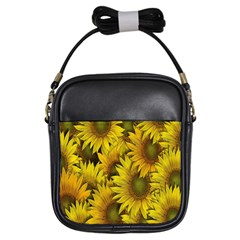Surreal Sunflowers Girls Sling Bag by retrotoomoderndesigns