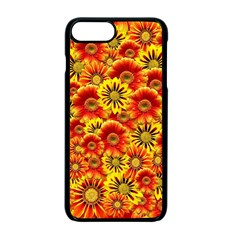 Brilliant Orange And Yellow Daisies Apple Iphone 7 Plus Seamless Case (black) by retrotoomoderndesigns
