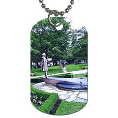 Shakespeare Garden Stratford Dog Tag (two Sides) by Riverwoman
