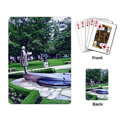 Shakespeare Garden Stratford Playing Cards Single Design by Riverwoman